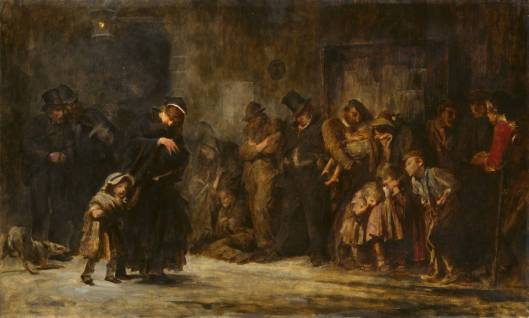 Applicants for Admission to a Casual Ward after 1908 by Sir Luke Fildes 1843-1927