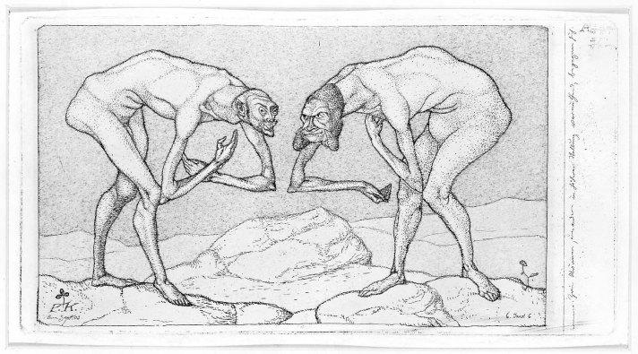 paul klee zwei männer